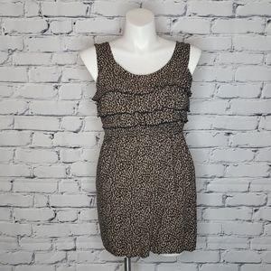 Ruffled Cheetah Print Dress